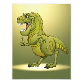 Happy Cartoon Dinosaur Giving the Thumbs Up Photo