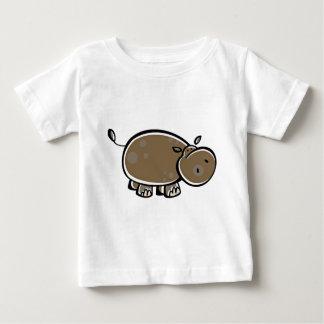 Happy Cartoon Hippo Baby T-Shirt