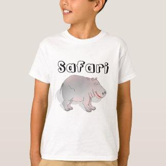 Happy cartoon hippo tee shirts