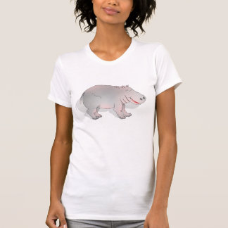 Happy cartoon hippo tshirt