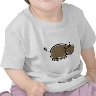 Happy Cartoon Hippo T Shirts