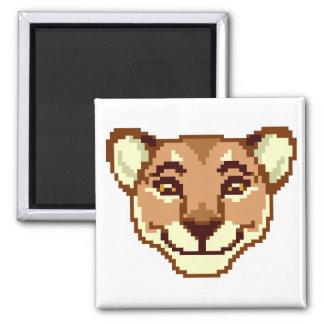 Happy Cartoon Lioness emoticon Magnet