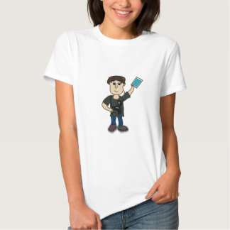 Happy Cartoon Photographer Man Holding SLR Camera T-shirt