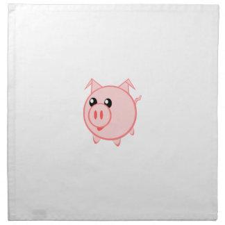 Happy Cartoon Pig Cloth Napkins