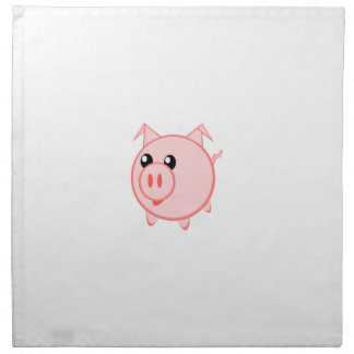 Happy Cartoon Pig Napkin