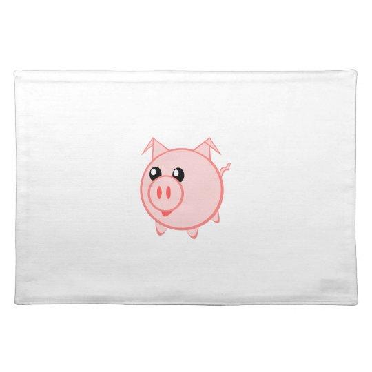 Happy Cartoon Pig Placemat