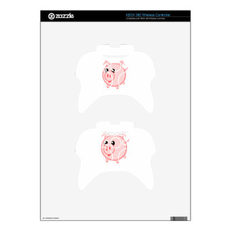 Happy Cartoon Pig Xbox 360 Controller Decal