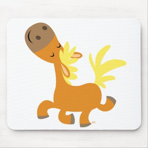 Happy Cartoon Pony T-shirt Mouse Pad