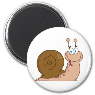 Happy Cartoon Snail Magnet