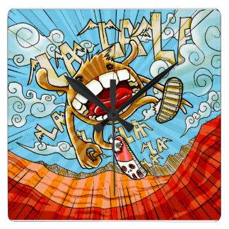 happy cartoon wall clocks