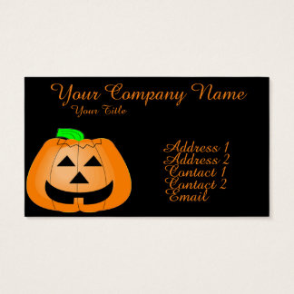 Happy Carved Pumpkin Business Card