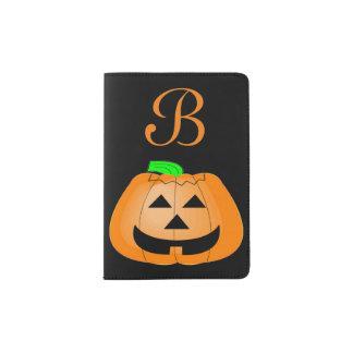 Happy Carved Pumpkin Passport Holder