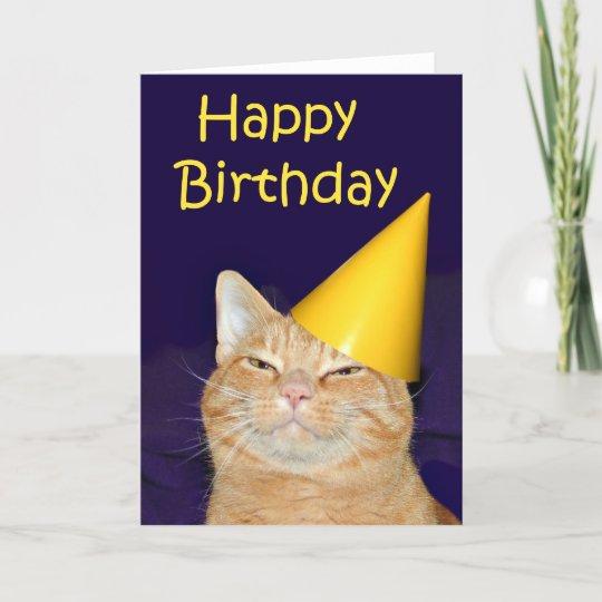 Happy Cat Happy Birthday Happy Cat Happy Birthday Card Zazzle