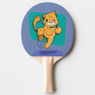 happy cat ping pong paddle