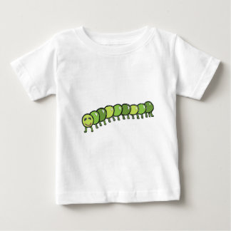 Happy Caterpillar Illustration Baby T-Shirt
