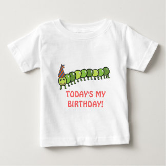 Happy Caterpillar Illustration Birthday Baby T-Shirt