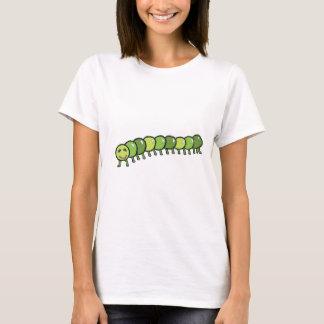 Happy Caterpillar Illustration T-Shirt