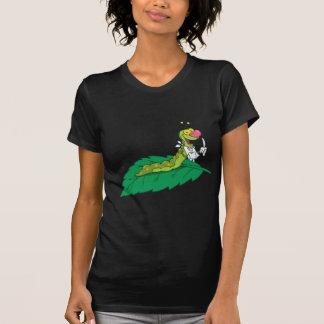 Happy  Caterpillar On A Leaf T Shirts