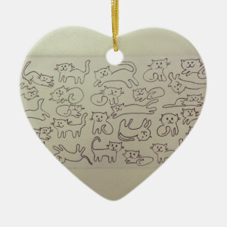 Happy Cats Christmas Ornament
