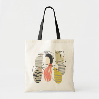 Happy Cats Whimsical Illustration Tote Bag