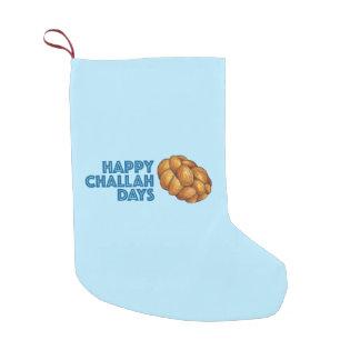 Happy Challah Days Blue Hanukkah Chanukah Bread Small Christmas Stocking