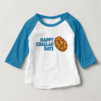 Happy Challah Days Blue Hanukkah Chanukah Tee