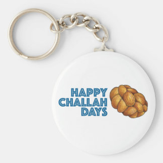 Happy Challah Days Chanukah Hanukkah Holiday Bread Key Ring