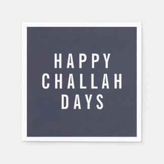 Happy Challah Days | Funny Holiday Hanukkah Disposable Serviettes