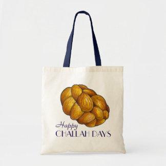 Happy Challah Days Hanukkah Chanukah Holiday Tote