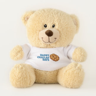 Happy Challah Days Hanukkah Jewish Holiday Bread Teddy Bear