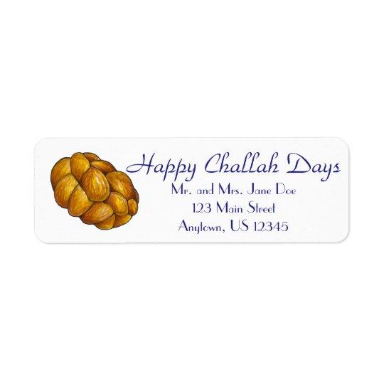 Happy Challah Days Personalised Hanukkah Labels