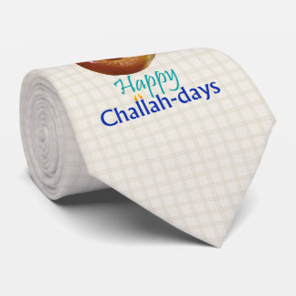 Happy Challah-days Plaid Tie