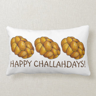 Happy Challahdays Challah Bread Hanukkah Pillow