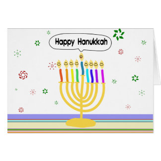 Happy Channukah Menora / Chanukia Card