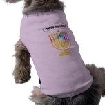 Happy Channukah Menora / Chanukia Sleeveless Dog Shirt