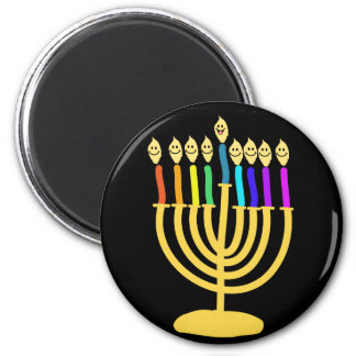Happy Channukah Menora / Chanukia Magnet