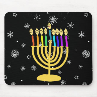 Happy Channukah Menora / Chanukia Mouse Mat