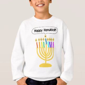 Happy Channukah Menora / Chanukia Sweatshirt