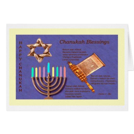 Happy Chanukah - Chanukah Blessings Card