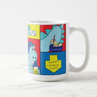 Happy Chanukah/Hanukkah Dinosaur Latke Mug