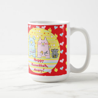Happy Chanukah/Hanukkah PETS Red Mug