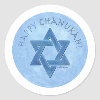 Happy Chanukah - Star of David Stickers