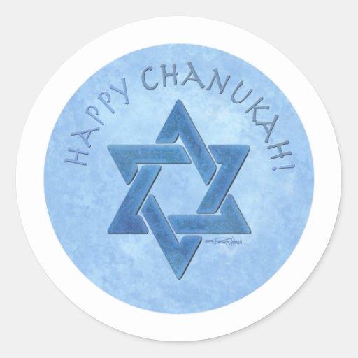 Happy Chanukah - Star of David Stickers