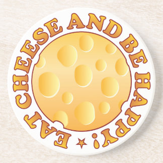 Happy Cheese Brown Beverage Coaster