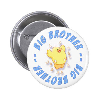 Happy Chick Big Brother 6 Cm Round Badge