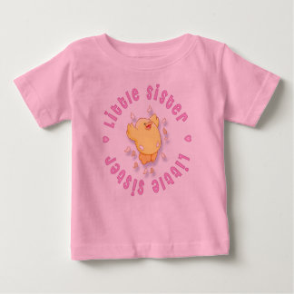 Happy Chick Little Sister Baby T-Shirt