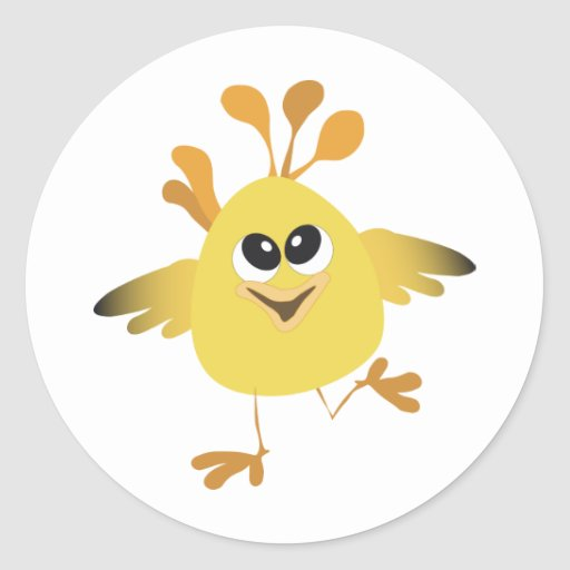 Happy Chick Stickers