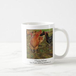 Happy chickens coffee mug