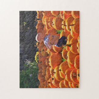 Happy Child in Pumpkin Patch Jigsaw Puzzle