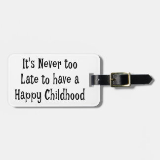 Happy Childhood Luggage Tag